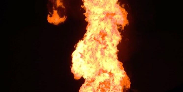 آتش سوزی خطوط انتقال گاز اندیمشک